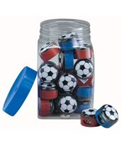 Soccer Pencil Sharpener Display with 32 Sharpeners 0355ND