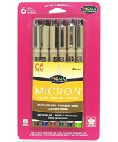 Sakura Pigma Micron Fine Line Earth Colors Set 0.45mm (Pack of 6) 30069