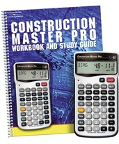 Construction Master Pro Calculator with Workbook 4065-2140