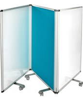 Double-Sided Whiteboard and Flannel Partition 693-45-32-BLU