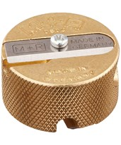 Solid Brass Double-Hole Round Pencil Sharpener (Pack of 12) 9867