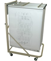Adir Vertical File Rolling Stand With 12 Brackets 613