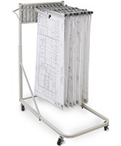Vertical File Rolling Stand With 12 Brackets 613