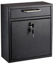 Ultimate Drop Box Wall Mounted Mail Box 631-05-BLK