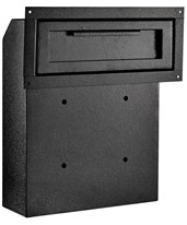 Through-The-Door Locking Drop Box 631-06-BLK