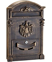 Coat of Arms Rustic Mailbox 631-0805-BRZ