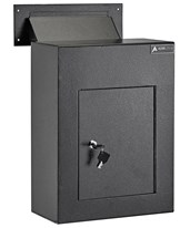 Through-the-Wall Drop Box w/ Adjustable Chute 631-10-BLK
