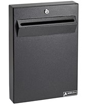 Wall Mount Drop Box for Secure Document Storage 631-14-BLK