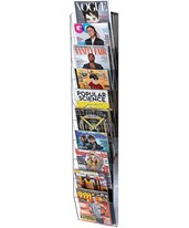 Hanging Magazine Rack with Adjustable Sliding Pockets 640-5110-BLK