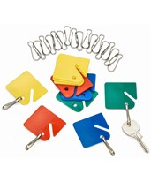 Hanging Key Tags with Snap Hooks 689-20-COLORED
