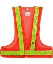 LED Light Safety Vest 716-10-OR