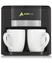 "AdirChef ""BFF"" Coffee Maker for Two 800-02-BLK"