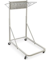 Adir Vertical File Rolling Stand With 12 Brackets, Light Grey 613