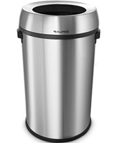 Alpine 17-Gallon Stainless Steel Open-Top Indoor Trash Receptacle 470-65L