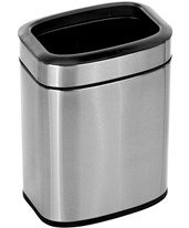 Stainless Steel Open Trash Can 470-6L