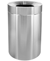 50-Gallon Stainless Steel Indoor Trash Can 475-50