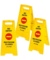 Two-Sided Fold-Out Floor Safety Sign (3-Pack) 499-NE