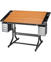 Alvin CraftMaster II Deluxe Art, Drawing, and Hobby Drafting Table CM48-3-WBR