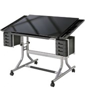 Alvin Craftmaster II Glass Top Deluxe Art and Drawing Table CM48GL