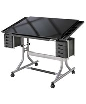 Craftmaster II Glass Top Deluxe Art and Drawing Table CM48GL