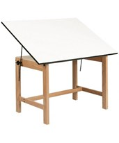 Titan Solid Oak Drafting Table WOB42