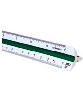240P Series High Impact Plastic Metric Triangular Scale 247P