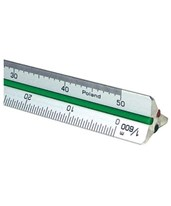 30 Series Mini Aluminum Metric Triangular Scale 37ATS