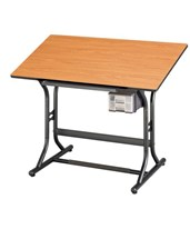 CraftMaster Jr. Cherry Woodgrain Top Drafting Table CM30-3-WBR