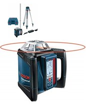 Bosch GRL 500 HCK Horizontal Self-Leveling Slope Rotary Laser Full Kit GRL500HCK