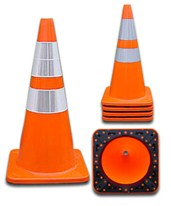 PVC Reflective Traffic Cone 4018PVCS6CC