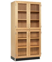 Woodcrafts Glass 4-Door Tall Cabinet 357-3622