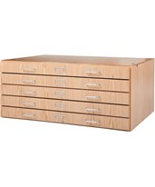 Diversified Woodcrafts 5-Drawer Flat File FFS-3624K