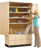 Woodcrafts General Storage Cabinet with Drawers GSC-8