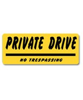 EverMark Private Drive No Trespassing Property Sign YHM010-01