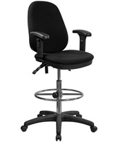 Black Drafting Chair with Arms KC-B802M1KG-ARMS-GG