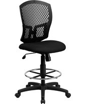 Mesh Full Back Drafting Chair WL-3958SYG-BK-D-GG
