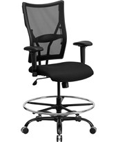 Hercules Mesh Drafting Chair with Arms WL-5029SYG-AD-GG