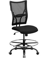 Hercules Mesh Drafting Chair WL-5029SYG-D-GG
