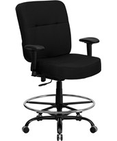 Hercules Swivel Drafting Chair with Arms WL-735SYG-BK-AD-GG