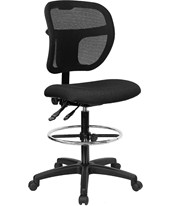 Mid-Back Drafting Chair WL-A7671SYG-BK-D-GG