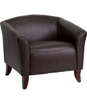 HERCULES Imperial Series Brown Leather Chair 111-1-BN-GG