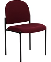 Burgundy Fabric Comfortable Stackable Steel Side Chair BT-515-1-BY-GG