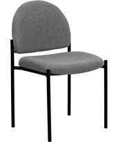 Gray Fabric Comfortable Stackable Steel Side Chair BT-515-1-GY-GG