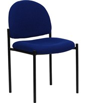 Navy Fabric Comfortable Stackable Steel Side Chair BT-515-1-NVY-GG