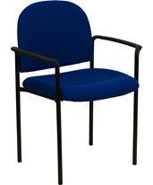 Navy Fabric Comfortable Stackable Steel Side Chair with Arms BT-516-1-NVY-GG