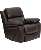 Brown Leather Rocker Recliner MEN-DA3439-91-BRN-GG