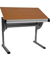 Drawing & Drafting Table w/ Pewter Frame NAN-JN-2433-GG