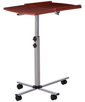 Angle and Height Adjustable Mobile Laptop Computer Table with Cherry Top NAN-JN-2762-GG