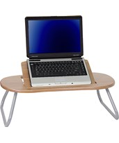Angle Adjustable Laptop Computer Table with Dark Natural Top NAN-JN-2779-GG
