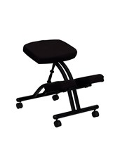 Mobile Ergonomic Kneeling Chair in Black Fabric WL-1420-GG